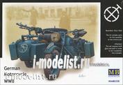 3528 MasterBox 1/35 German motorcycle, WWII