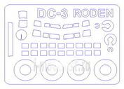 14489 KV Models 1/144 Набор окрасочных масок для остекления модели C-47/DC-3