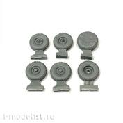 43052 GunTower Models U@Z wheels (rubber Ya-192), 6 pcs