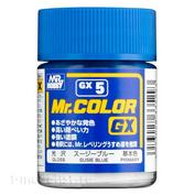 GX5 Gunze Sangyo Краска целлюлозная Mr.Hobby на растворителе, цвет Susie Blue глянцевый, 18 мл.