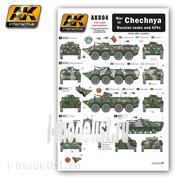 AK-804 AK Interactive Декали для российской техники в Чеченской войне