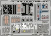 FE562 Eduard 1/48 Цветное фототравление для Lavochkin La-5 S. A.