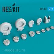 RS72-0253 RESKIT 1/72 Смоляные колёса для M&G-23 (ML/MLD/MLA/P)