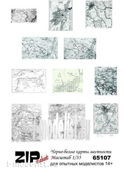 65107 ZIPmaket 1/35 Черно-белые карты местности