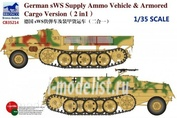 CB35214 Bronco 1/35 German sWS Supply Ammo Vehicle & Armored Cargo Version (2 in 1)