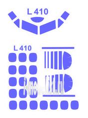 72167 KV Models 1/72 Маска для самолета L-410