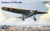 72037 Valom 1/72 Fokker F.VIIb/3m