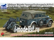 CB35209 Bronco 1/35 Mittlerer Einheits PersonenKraftwagen(m.E.Pkw) Kfz12(Early Version) & 2.8cm sPzB41 On Larger Steel-Wheeled Carriage