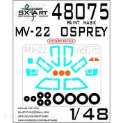 48075 SX-Art 1/48 Окрасочная маска для MV-22 Osprey (HobbyBoss)