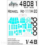 48081 SX-Art 1/48 Окрасочная маска для He-111H-20 (ICM)