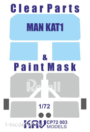 CP72 003 KAV Models 1/72 Остекление для MAN KAT1 (Revell)