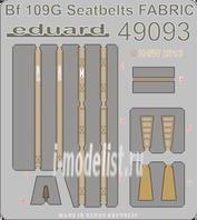 49093 Eduard 1/48 Фототравление для Bf 109G seatbelts FABRIC