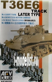 AF35020 AFVClub 1/35 Scale tracks for M5 Light Tank and M8 Howitzer Motor carriage