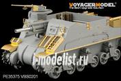 PE35375 Voyager Model 1/35 Фототравление для  WWII U.S. M7 Priest Mid Production w/Ammunition case/telephone set