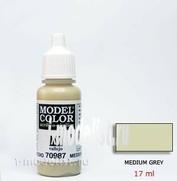 70987 Vallejo Краска акриловая `Model Color` Серый средний / Medium Grey