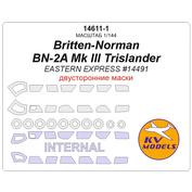 14611-1 KV Models 1/144 Britten-Norman BN-2A Mk III Trislander (EASTERN EXPRESS #14491) - (двусторонние маски) + маски на диски и колеса