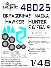 48025 SX-Art 1/48 Paint mask for Hawker Hunter F. 6/FGA.9 (Italery/Academy)