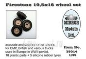 35014 Mirror-models 1/35 Firestone 10,5 x 16 wheel set
