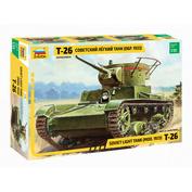 3538 Звезда 1/35 Советский легкий танк Т-26 (обр. 1933 г.)
