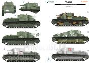 35045 ColibriDecals 1/35 Декаль для T-28 Part II