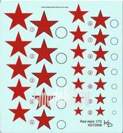 72008 KV Decol 1/72  Российские звезды, тип 1 (два листа)