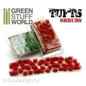 1366 Green Stuff World Красные цветы 6 мм / Shrubs TUFTS - 6mm self-adhesive - RED Flowers