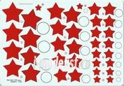 48011 KV Decol 1/48  Российские звезды, тип 4  (два листа)