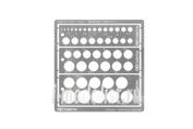 74150 Tamiya Металлический трафарет для кругов от 1-12,5мм