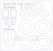 48092-1 KV Models 1/48 Маска для М.и.Г-25РБ / РБТ (Двусторонние маски) + маски на диски и колеса