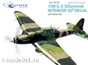 QD48020 Quinta Studio 1/48 3D cabin interior Decal Il-2 (for Tamiya model)