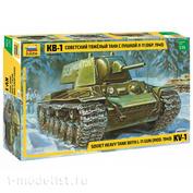 3624 Звезда 1/35 Советский тяжелый танк образца 1940 г. с пушкой Л-11 КВ-1