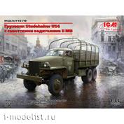 35510 ICM 1/35 Сборная модель Studebaker US6 с советскими водителями II МВ