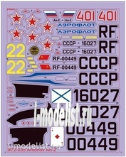 D72001 1/72 Zebrano Decal on the aircraft an - 2