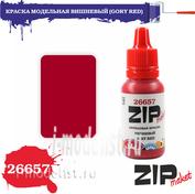 26657 ZIPmaket Краска модельная акриловая ВИШНЕВЫЙ (GORY RED)