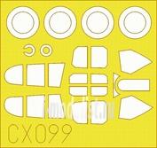 CX099 Eduard 1/72 Маска для P-40E Mk.I