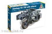 7406 Italeri 1/9 Motorcycle ZUNDAPP KS 75