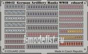 49042 Eduard 1/48 Фототравление для German Artillery Ranks WWII