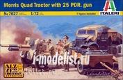 7027 Italeri 1/72 Morris Quad Tractor with 25 Pdr. gun