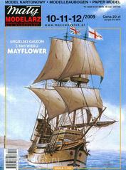 MM 10-11-12/2009 Maly Modelarz Бумажная модель Галеон «Майский цветок» XVII век / Mayflower