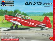 KPM0023 Kovozavody Prostejov 1/72 Zlin Z-126 (Trenér 2) pozdní série