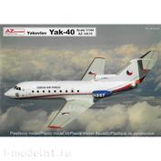 AZ14415 Azmodel 1/144 Yakovlev Yak-40 Military CZAF, PL, Angola