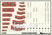 350004 Begemot 1/350 Декаль Немецкий флот