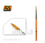 AK-606 AK Interactive round Brush ROUND BRUSH 6 SYNTHETIC