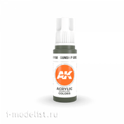 AK11150 AK Interactive acrylic Paint 3rd Generation Gunship Green 17ml