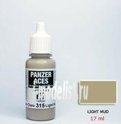 70315 Vallejo Краска акриловая `Panzer Aces` Светлая грязь / Light Mud