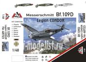 48723 AMG Models 1/48 Самолет Messerschmitt Bf.109 D-1