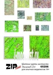 65206 ZIPmaket 1/43 Цветные карты местности