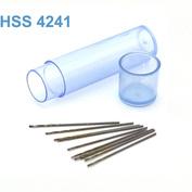 42257 JAS Мини-сверло HSS 4241 титановое покрытие d 0,4 мм 10 шт.