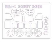 72203-1 KV Models 1/72 Набор окрасочных масок для Ми-2 + маски на диски и колеса