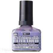WC11 Gunze Sangyo Жидкий фильтр, Mr. Weathering Color, Violet (Фиолетовый), 40 мл.